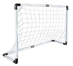 ISO TRADE soccer goal set 116x79cm large ball hand pump light strong net easy assembly 5617