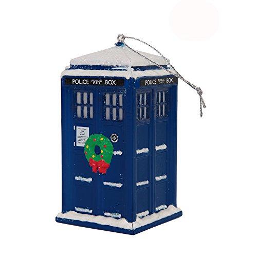 Doctor Who Tardis Police Box Christmas Tree Ornament - 4' x 2'