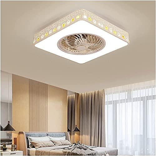 WEM Luces de ventilador LED invisibles, luces de ventilador de techo, candelabros de novedad silenciosa, con ventiladores, comedor minimalista moderno, sala de estar, dormitorio en casa (tamaño: A),A