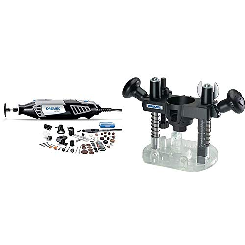 Dremel 4000-6/50-FF High Performance Rotary Tool Kit with Flex Shaft- 6 Attachments & 50 Accessories- Grinder, Sander, Polisher, Engraver & 335-01 Plunge Router Attachment