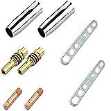8 piezas Kit de piezas de boquilla de pistola de soldadura Kit de pistola de soldadura MIG Mig Parts Fit Miller Boca protectora + boca conductora + biela + llave Para sopletes y máquinas de soldar