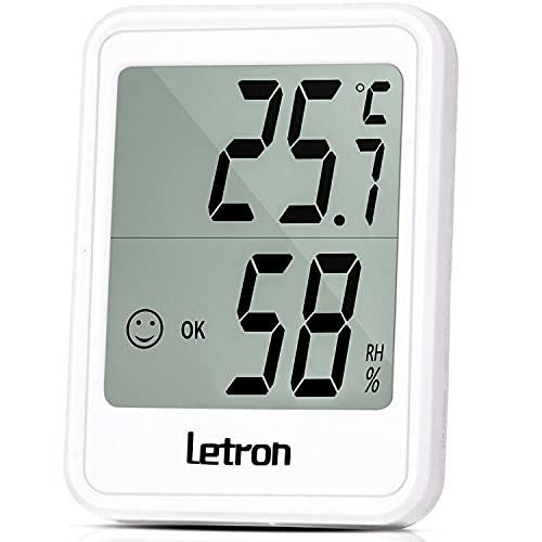 Thermometer Hygrometer, Thermometer Innen mit Hohen Genauigkeit Temeo Hygro Indicator zum Aufstellen oder zur mit Raumklima-Indikator