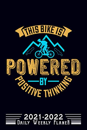 This Bike Is Powered By Positive Thinking: Mountain Biking Grid Paper Composition Notebook, Graphing Paper, Quad Ruled