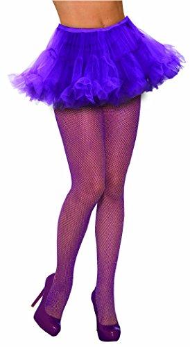 Forum Damen Fishnet Stockings Glitter Strumpfhose, Violett (Purple Purple), Einheitsgröße