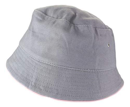 2Store24 2Store24 Fischerhut in grey/light-rosa Größe L/XL