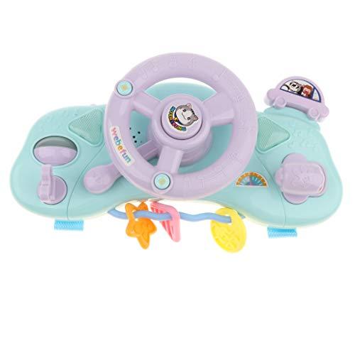 B Blesiya Volante eléctrico para coche con luz y música, juguete musical...