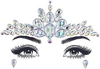 Qqinghan Glitter Gezicht Juwelen Sticker Tijdelijke Tattoo Party Face Make Tools Rhinestones Flash Tattoo Stickers Fake Di...