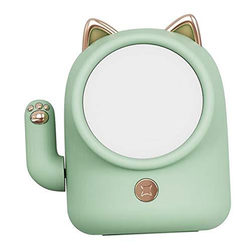homozy Sorte Gato Onda Mão LED Night Light, Lâmpada de Cabeceira Do Bebê, pode ser escurecido Luz Recarregável USB com Controle de Toque para Crianças Quarto - Verde