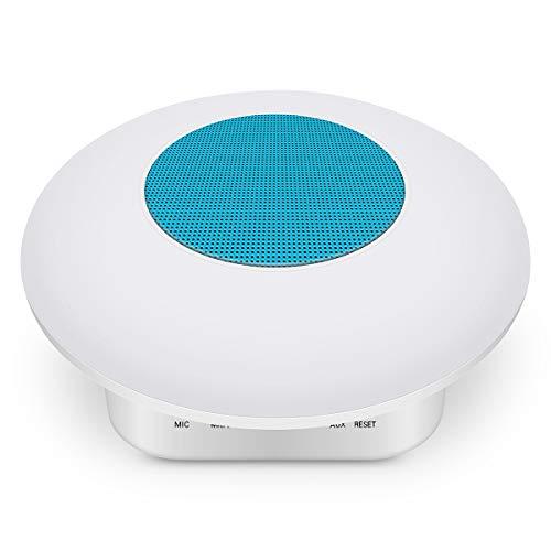 Luz de noche LED de colores recargable táctil lámpara de mesa interior lámpara de lectura con altavoz Bluetooth, plástico abs polipropileno Laminado., azul, Bluetooth speaker light