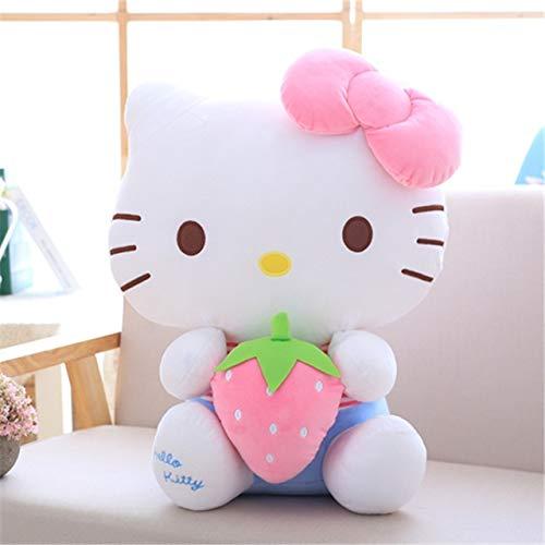 Nuovo 50CM Kawaii Cat Hello Kitty Peluche Bambola Peluche Giocattoli Cuscino con Cuore per Bambini Baby Bambini Festa Regalo di Compleanno Rosa 30cm