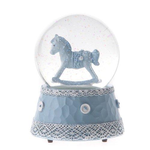 Baby-Schaukelpferd Musical Snow Globe von Gisela Graham
