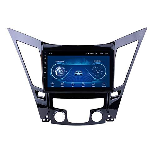 JALAL Navegador GPS para Coche Doble DIN para Hyundai Sonata 8 YF 2010-2015 Pantalla táctil 2.5D con teléfono móvil Bluetooth Manos Libres FM Am DSP Subwoofer Soporte Cámara de visión Trasera