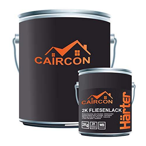 CAIRCON 2K Fliesenlack | Beige | Fliesenfarbe für Küche Badezimmer Wandfliesen Bodenfliesen etc. 20Kg