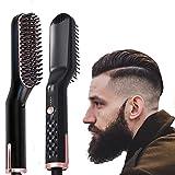 Peine de pelo liso para barba calentado por iones eléctricos anti-escaldaduras, cepillo para alisar la barba y el cabello, adecuado para hombres y mujeres