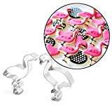 AMA-StarUK36 2 Stück Flamingo Plätzchenform Plätzchenform Plätzchenform DIY Form Edelstahl Backwerkzeug