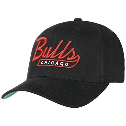 Mitchell & Ness Gorra Tailscript 110 Bulls& de Beisbol Baseball (Talla única - Negro)