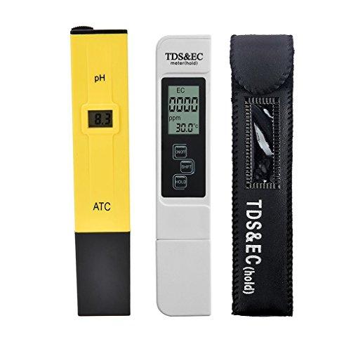 2pcs / lot Digital LCD PH Meter TDS EG Water Quality Tester Meter Pen LCD Monitor Aquarium Pool Analyzer