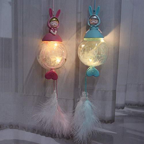 Gyjcd Twee Ornamenten Kerstkinderen Student Cadeau Deur Decoratie Auto Decoratie Droom Konijn Hanglamp Hanger