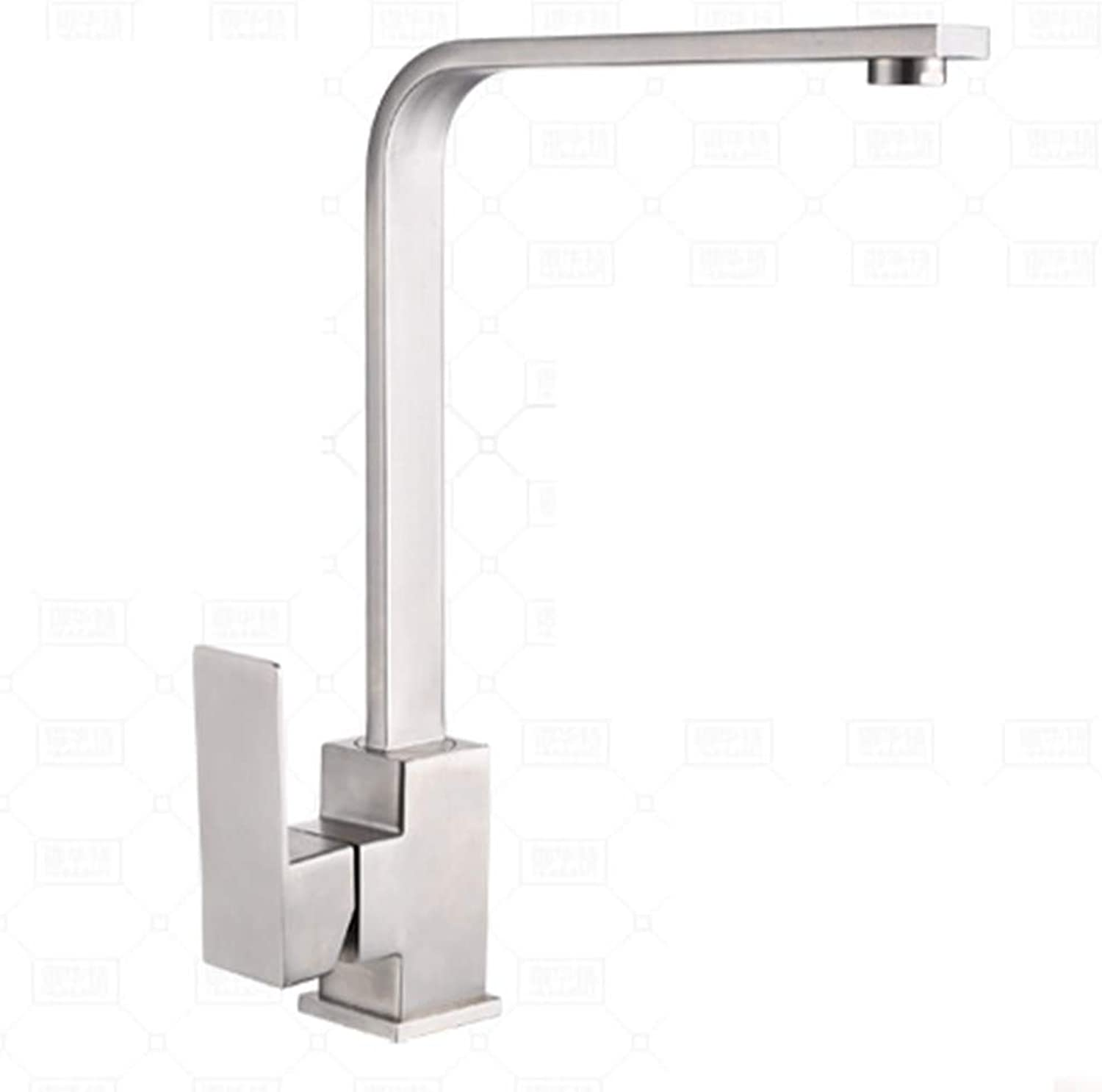 SEEKSUNG Kitchen faucet - Contemporary Nickel Polished Ceramic Valve, Hot and cold water tap