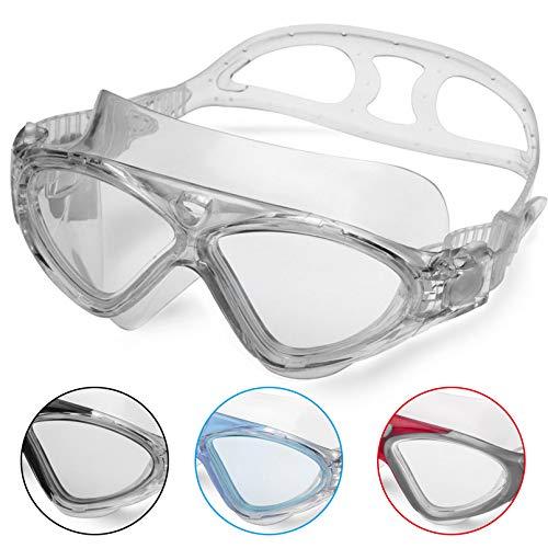 Lunettes de Natation,Lunettes de Piscine Adultes Transparents Antibuée Etanches Protection UV...
