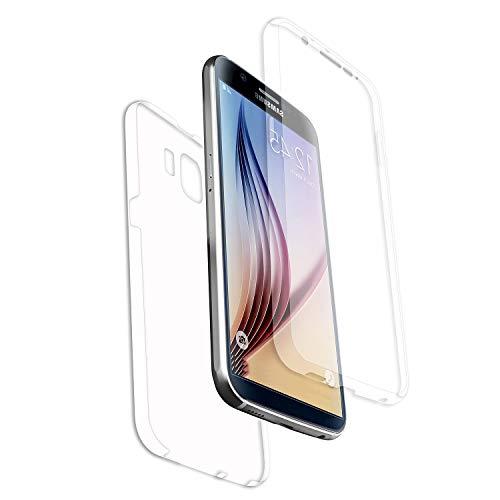 A+ AURSTORE - Carcasa compatible con Samsung Galaxy J2 Core, protección integral delantera y trasera de rígida, funda táctil de 360 grados, antigolpes, transparente