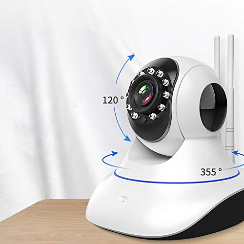 MSG ZY Cámara de Seguridad WiFi/cámara inalámbrica, cámara doméstica con visión Nocturna de Audio de 2 vías, cámara de 360 °, Soporte iOS/Android/Windows,720P/16G