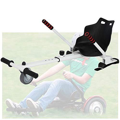 WYJW Fissaggio Regolabile Hoverkart, Attacco per Sedile Hoverboard, Seggiolino per Scooter Elettrico per Bambini Scooter Elettrico con Sedile Compatibile con Tutti Gli Hoverboard, Bianc