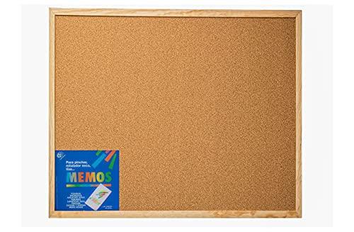 Tablero de Corcho para pared con Moldura Robusta, 50x40 cm - Tablón de anuncios