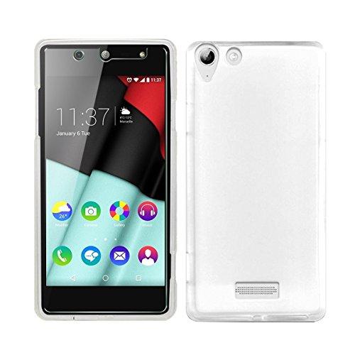 NEW'C Kompatibel mit Wiko selfy 4G Hülle, Ultra transparent Silikon Gel TPU Soft Cover Hülle SchutzKratzfeste mit Schock Absorption & Anti Scratch