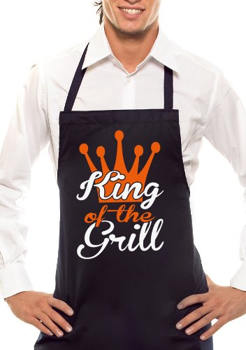 The King of Barbecue-Grill-Crown Bicolore Noir/Orange/Blanc