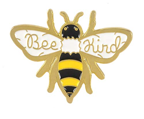 """Adorable BEE KIND Bumble Bee 1"""" Black & Gold Enamel Pin.Sweet Gift for a BUMBLE BEE Fan or Your QUEEN Bee"""