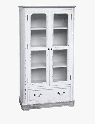 maxioccasioni Meuble vitrine bois blanc shabby chic