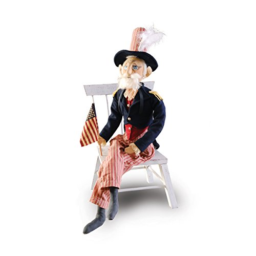 GALLERIE II Uncle Sam Joe Spencer Gathered Traditions Art Doll Blue