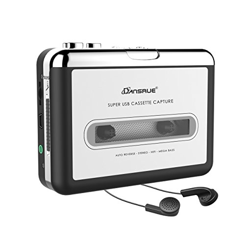 2019 Updated Cassette to MP3 Converter, USB Cassette Player from Tapes to MP3, Digital Files for Laptop PC and Mac with Headphones from Tapes to Mp3 New Technology,Silver