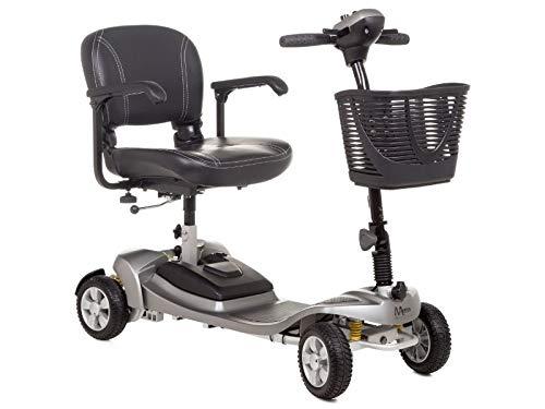 Scooter plegable de aluminio gris