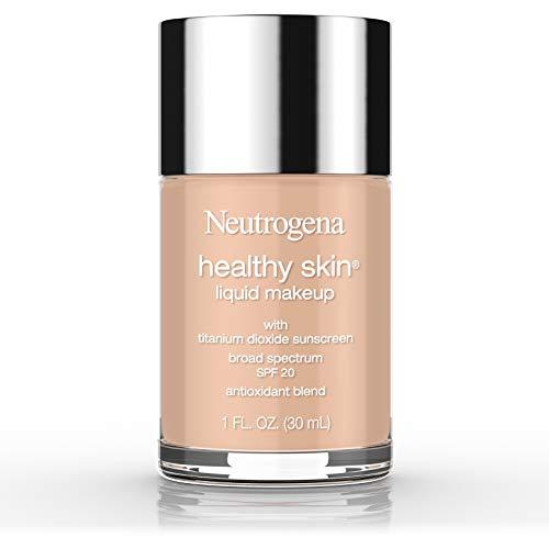 Neutrogena Healthy Skin Liquid Makeup Foundation, Broad Spectrum SPF 20 Sunscreen, Lightweight & Flawless Coverage Foundation with Antioxidant Vitamin E & Feverfew, Natural Tan, 1 fl. oz