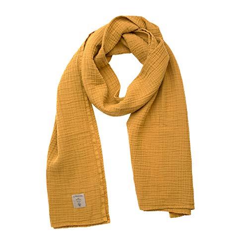 Lässig 1531007837 Muslin Nursing Scarf 64 x 210 cm Mustard, gelb, 250 g