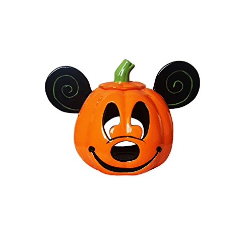Mickey Mouse Ceramic Pumpkin Halloween Decoration Candle Holder