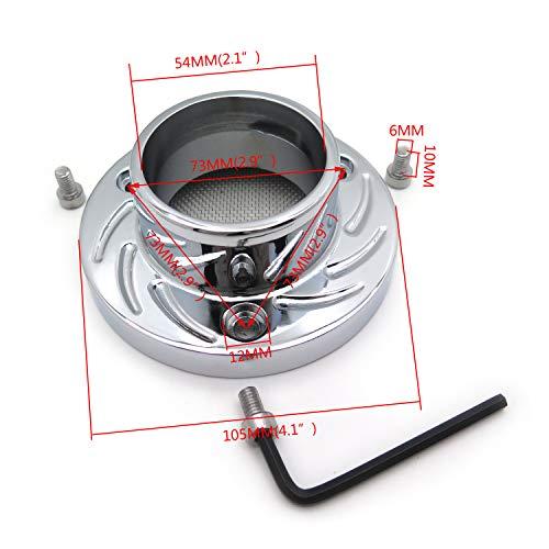 XKMT-Exhaust Tip Muffler Power Compatible With Artic Cat Dvx400 Kawasaki Kfx400 Suzuki Lt-Z400 Chromed [B00YWCAKWU]