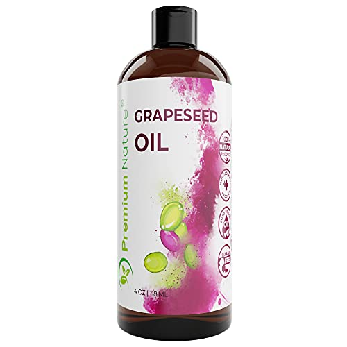 Grapeseed Oil Pure Carrier Oil - Cold Pressed Grape Seed...