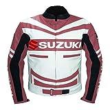 GSXR SUZUKI 4313 CHAQUETA DE PIEL COWHIDE ROSA MOTO BIKERS (
