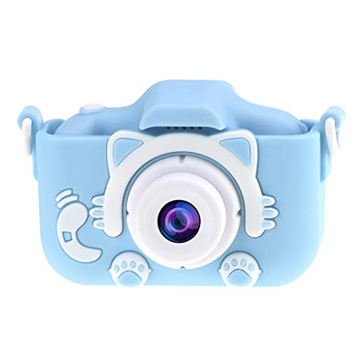 Lyperkin Cámara para Niños, Pantalla LCD De 2' cámara para Niños De Dibujos Animados, Cámara Digital Recargable USB Videocámara Deportiva para Regalos Infantiles