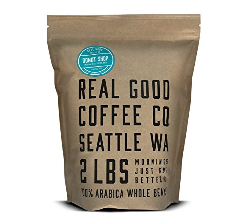 Real Good Coffee Co Donut Shop Medium Roast Whole Bean Coffee