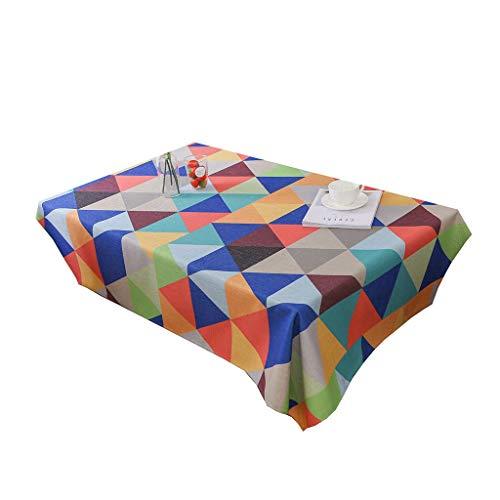 LIYONG Dicke Baumwollleinentischdecke Waschbare Rechteckige Abdeckung Einfache Digital-Druck-Muster Fading und knitterarm Staubtuch for Hauptdekoration Tischdecke (Size : 120x160cm)