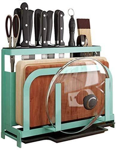 GJJSZ Panificadoras,Tablas de Cortar Organizador de Cuchillos con Ganchos Rejilla para Utensilios de Cocina de Acero Inoxidable Tablas de Cortar Cuchillos