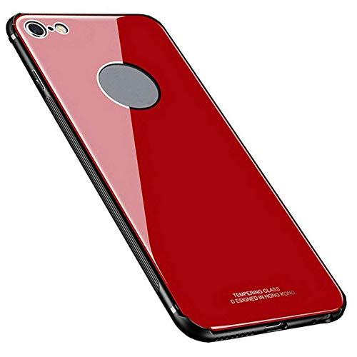 Kepuch Quartz Case Capas TPU &Voltar (Vidro Temperado) para iPhone 6 6S - Vermelho