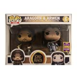 Funko Pop Movies : The Lord of The Rings - Aragorn & arwen (2017 SDCC) 3.75inch Vinyl Gift for Fantasy Movie Fans Pop! Multicolor