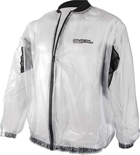O'NEAL   Motorrad Mountainbike-Jacke   MTB DH Downhill FR Freeride   Transparente & wasserdichte Offroad-Regenjacke aus PVC, Mesh-Einsätze   Splash Rain Jacket   Erwachsene   Durchsichtig   Größe M