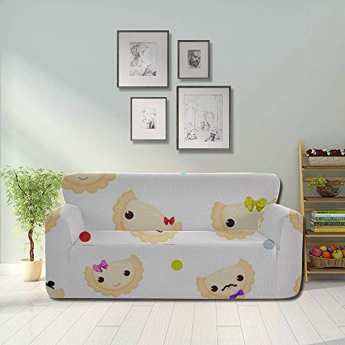Generies Dumplings Delicate Compact Custom Couch Cover Sofa Cover Seat Fitted Furniture Protector 2&3 Seat Sofas