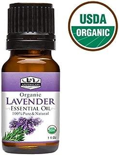 1 fl. Oz / 30 ml Organic Lavender Essential Oil, USDA Certified Organic Lavender Essential Oil, 100% Pure & Natural Lavender Essential Oil, Therapeutic Grade Lavender Essential Oil